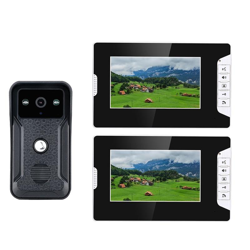 Oshotian visual walkthrome doorbell cable home villa access control system color HD building intercom enlarge