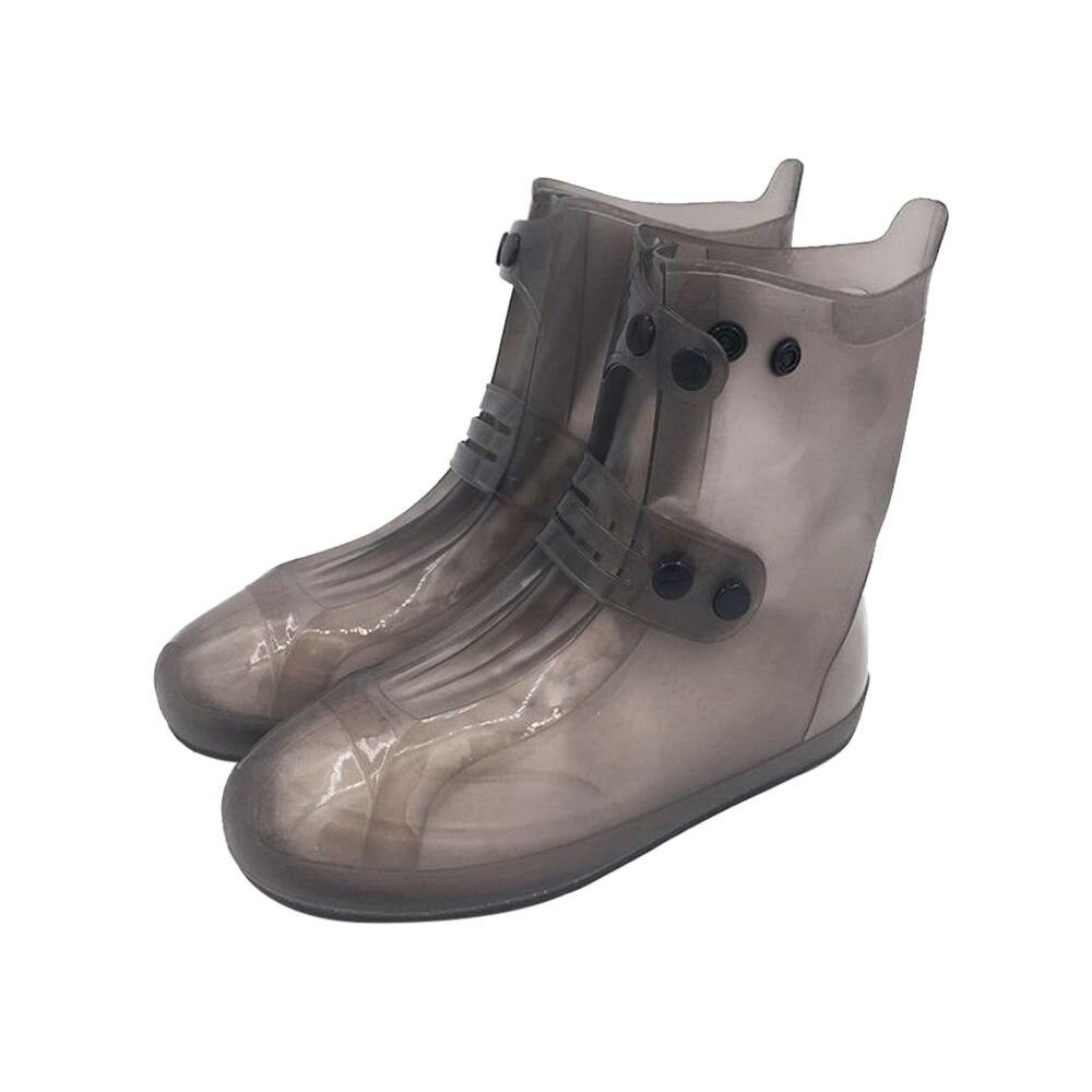 1 ud. Cubiertas de lluvia de doble botonadura Botas de lluvia zapatos antideslizantes resistentes al desgaste impermeable y Botas de lluvia de silicona herramienta de exterior