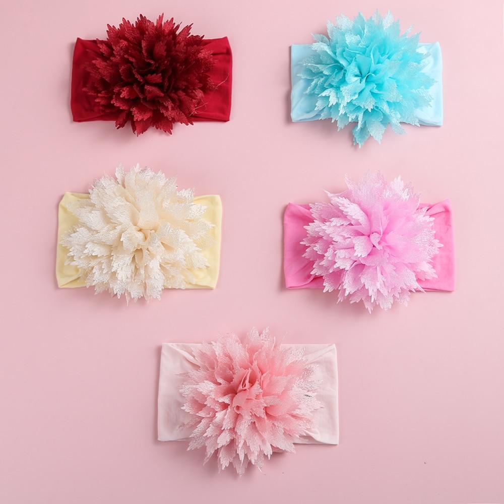 14pcs/Lot Baby Headband Flower Nylon Headbands Baby Girls Elastic Hair Bands For Children Kids Gifts Girl Hair Accessories Set