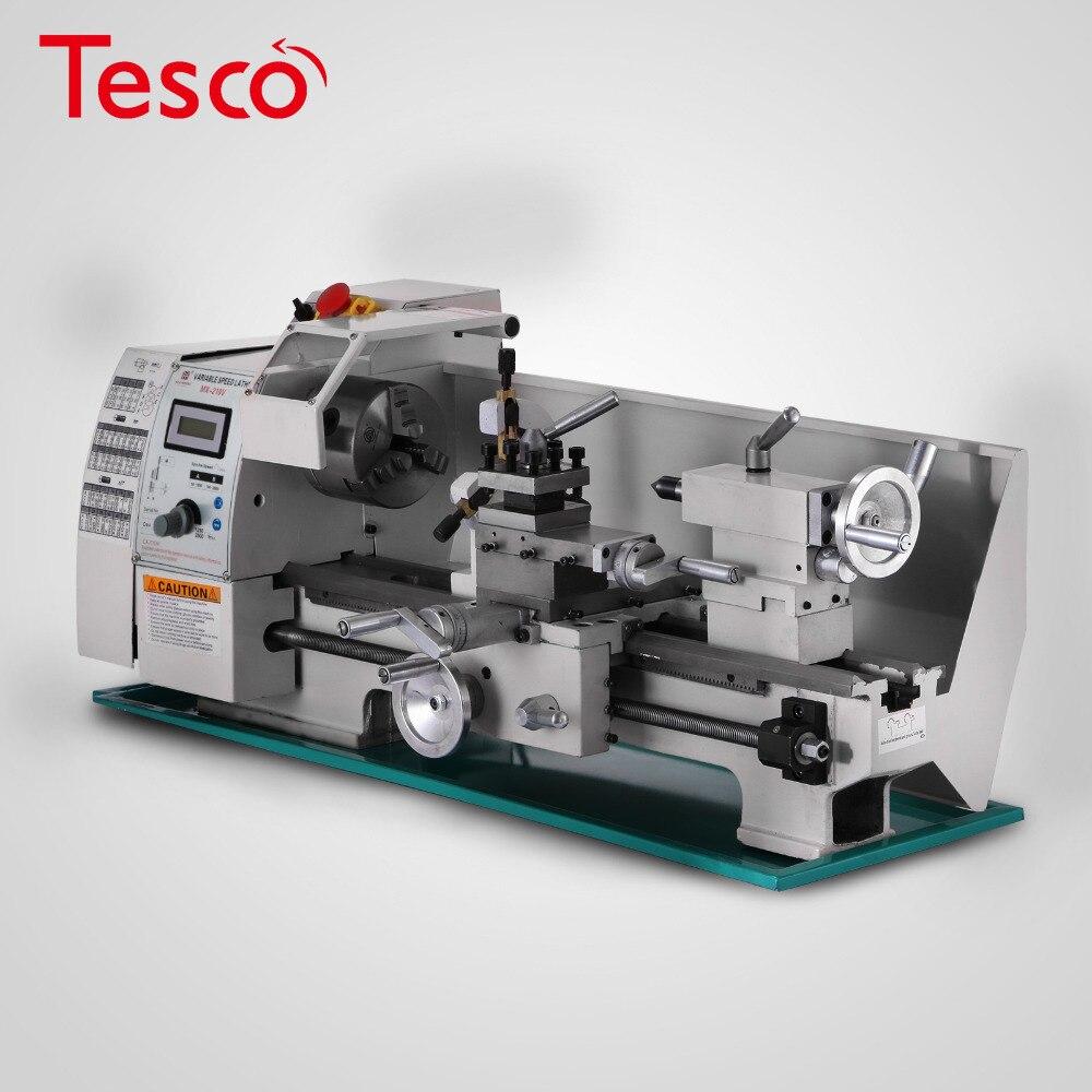 Torno metálico de 8x16 pulgadas, velocidad Variable multifunción, máquina metalúrgica precisa con caja de almacenamiento de herramientas