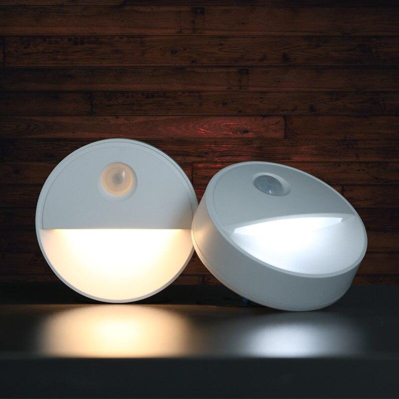 Night LED Light Under Cabinet Light Motion Sensor Lamp Wireless PIR LED Wall Lamp Wardrobe Nightlight Bedroom Bedside Lighting