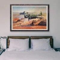 Peinture retro classique T004  7 affiches en soie personnalisees  operations de vol davion de guerre  Art mural de decoration de maison  cadeau de noel