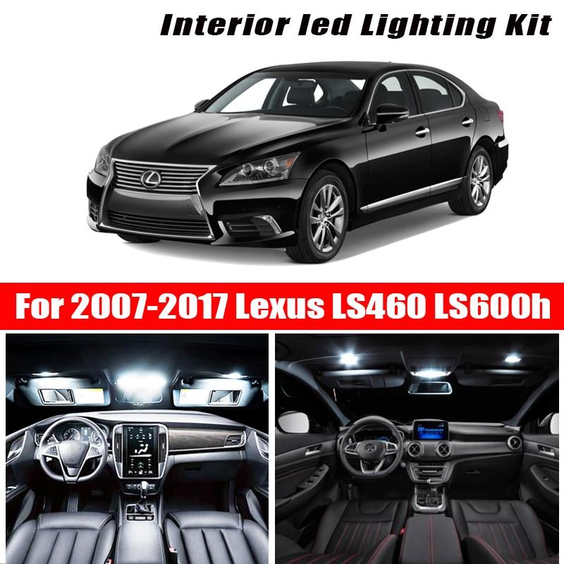 Para 2007-2017 Lexus LS460 LS600h blanco accesorios de coche Canbus Error gratuito luz LED Interior luz de lectura de mapa licencia de bóveda