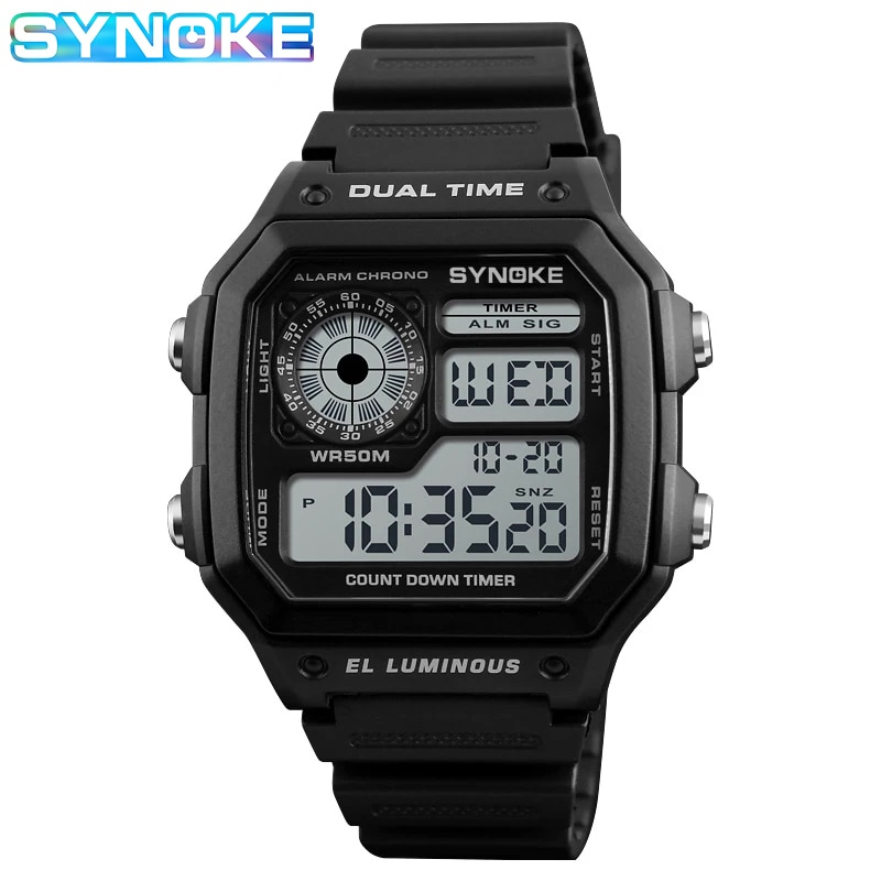 Фото - SYNOKE Top Luxury Fashion Sport Watch Men Clock Waterproof Watches Digital Watch Military Sports Watches Reloj Hombre 2021 New 2021 new sport travel lover watches carnival red digital clock gift for men waterproof electronics offers with free shipping