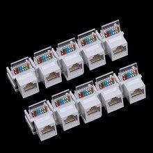 10 pièces sans outil CAT5E UTP module réseau RJ45 connecteur informations prise ordinateur prise câble adaptateur Keystone Jack pour AMP
