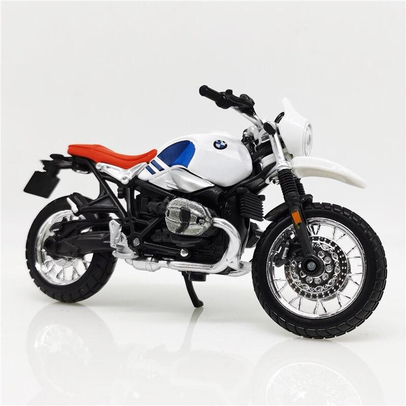 Bburago 1:18 R NineT Urban GS White Blue Diecast Model Bike Street Motorcycle