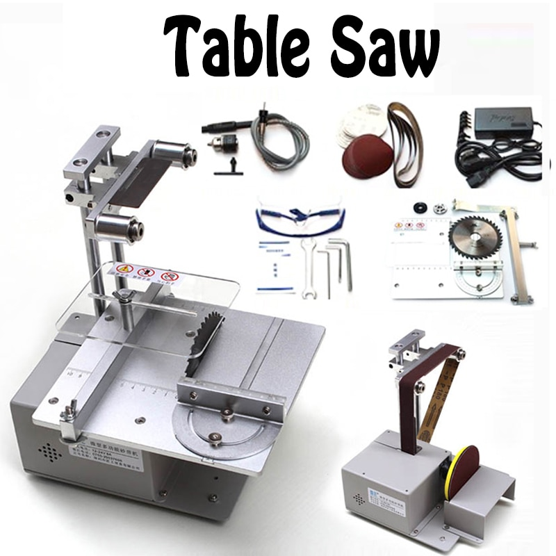 Table Saw Micro Chainsaw Multi-function Mini Cutting Machine DIY Woodworking Saws Precision Desktop Cutter Carpentry Saw