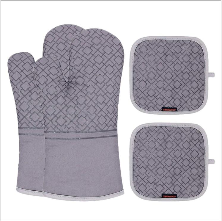Перчатки для барбекю, жаропрочные митенки для духовки, термостойкие, для барбекю