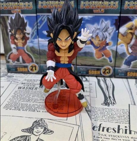 5CM 5 unids/set de la bola del dragón del Anime Z Super Saiyan Migatte no bardana hijo de Goku Vegeta Q versión PVC figura de acción modelo lelakaya