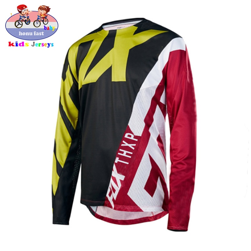 Camiseta de carreras para niños, Jersey de descenso para Motocross DH MX,...