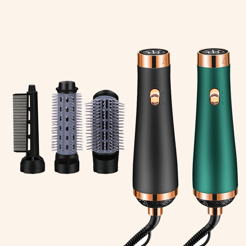 Hot Air Comb Brush Anion Hair Dryers Multifunctional Modeling Blow Dryer Brush Hair Electric Straight Hair/Curls Brushes Curler enlarge