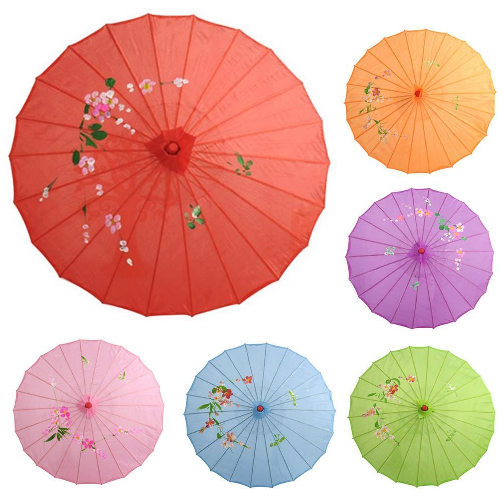 Chinês do vintage de seda guarda-chuva casamento foto guarda-sol dança adereços de seda do vintage guarda-sol casamento dança adereços decoração da sua casa