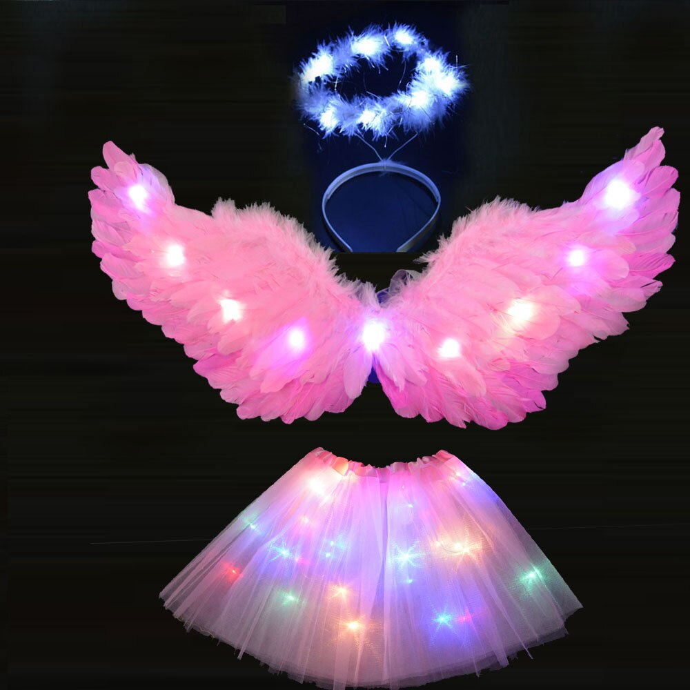 led light cosplay scary series mask rave costume lights neon led bright chrstimas blink mask nighttime glow in dark party decor Adult Children Angel Wing Headband Tutu Skirts LED Light Party Cosplay Dance Show Glow Carnival Wedding Costume