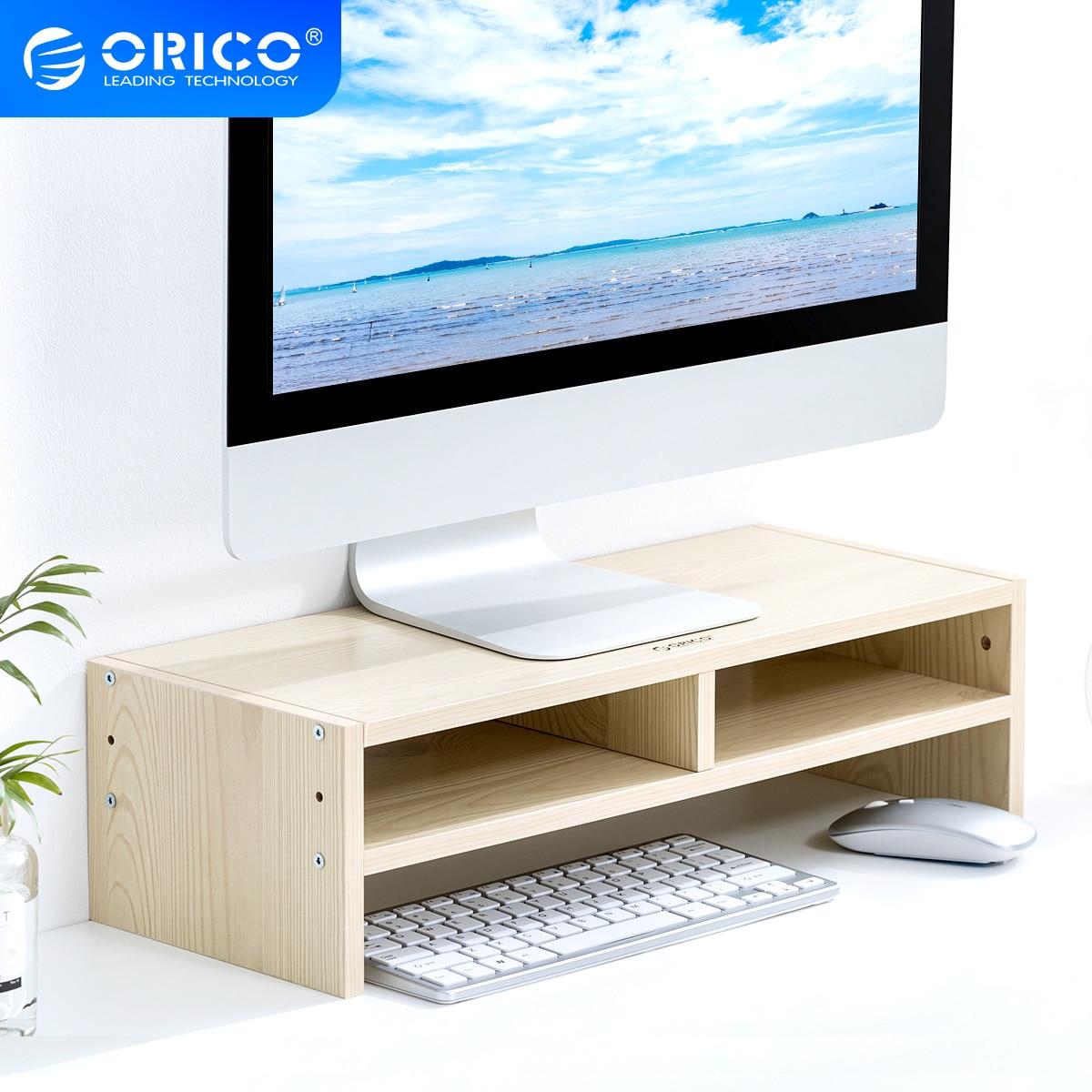 ORICO-حامل شاشة كمبيوتر محمول ، رف مكتب ، مع درج ، صندوق تخزين ، للمنزل والمكتب