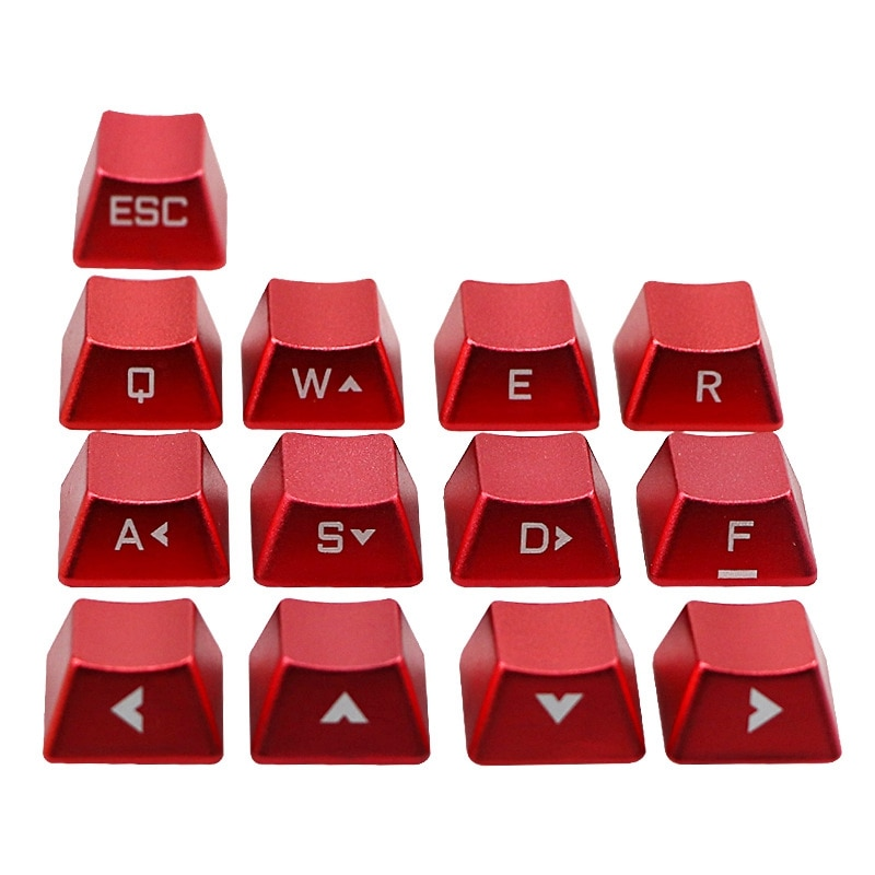 أغطية مفاتيح من سبائك الألومنيوم للوحة مفاتيح الألعاب الميكانيكية ، مقبض متقاطع ، عالمي ، غير لامع ، 13 قطعة