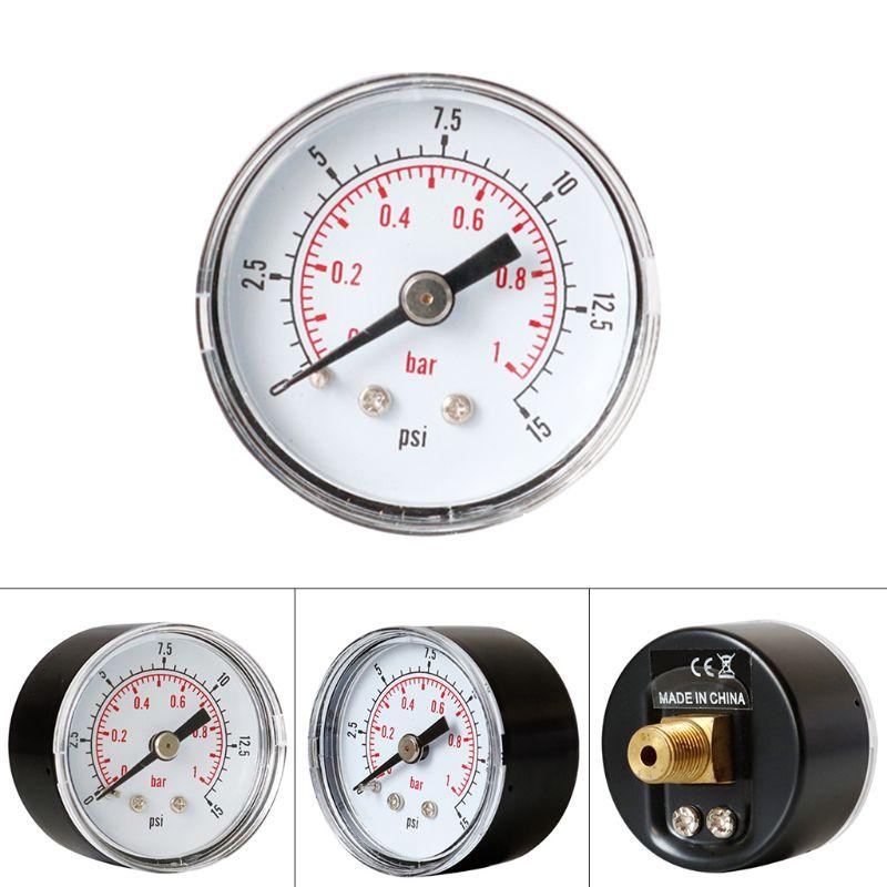 Medidor de presión 40mm, 1/8 BSPT, trasero 15-300 PSI y Barra para combustible Wate de Gas de aire 19QB