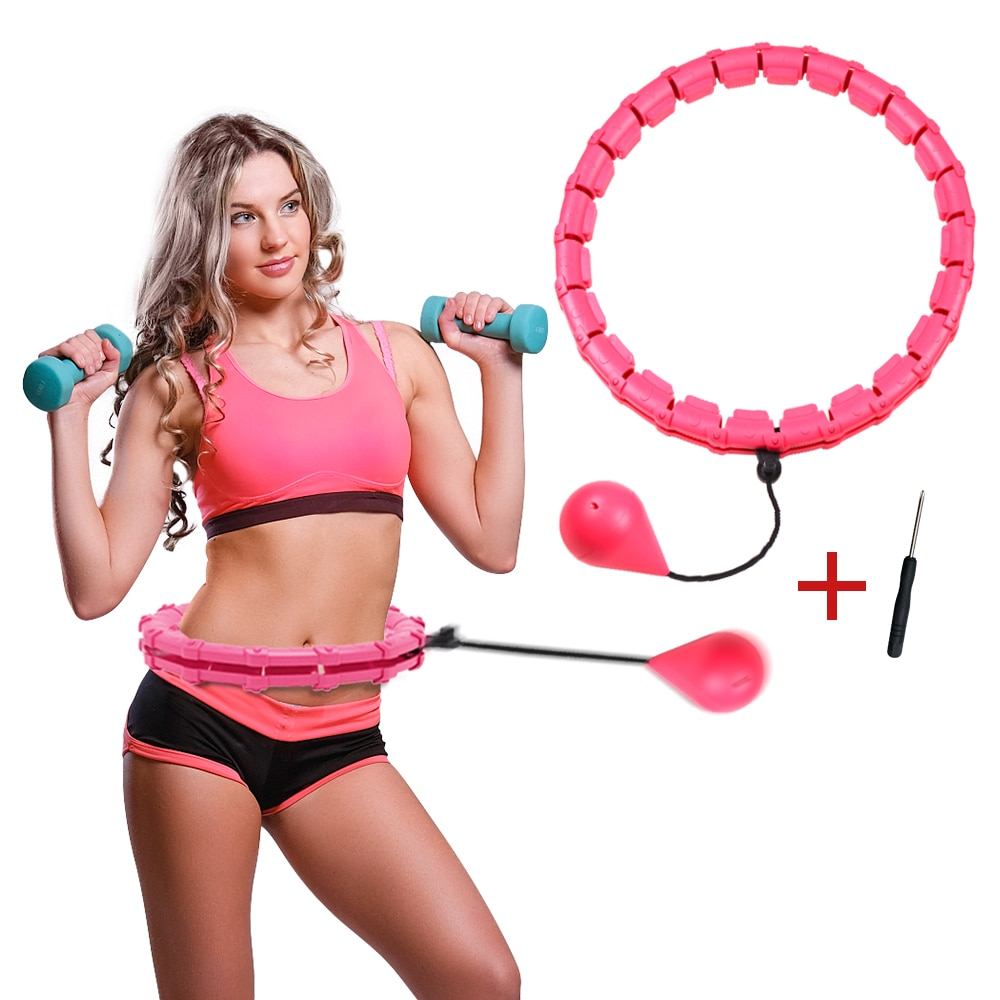 Sports 24-Section Smart Adjustable Ring Exercise Circle Workout Hoop Abdomen Waist Training Detachab