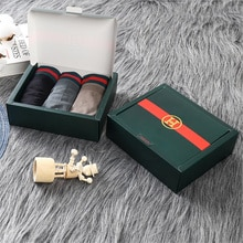 3Pcs mens underwear boxers male underpants Exquisite Box Packing Gift to boyfriend husband Breathabl