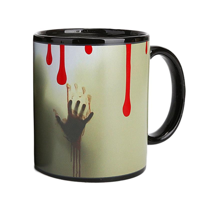 1pc Ceramic Mug Color Changing Drinking Mug Cup for Hot Water Beverage Juice Latte