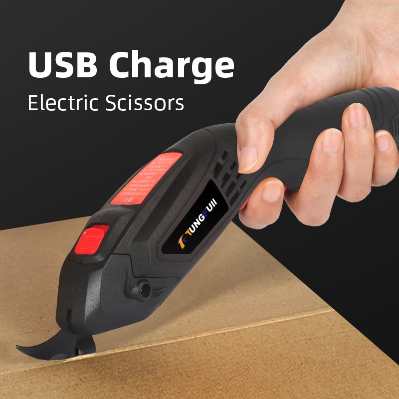 Electric Scissors For Fabric Sewing Professional USB Charge Wireless Power Tool Cutter Shears Cutting