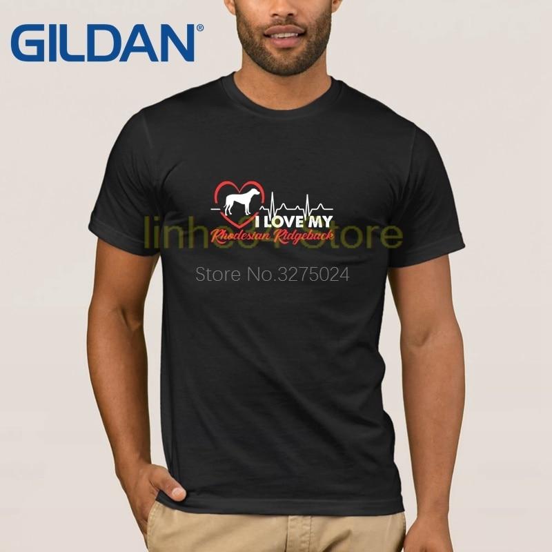 Patrón K9 militar Camiseta Hombre amo mi rodesian Ridgeback camiseta para hombres de talla grande 3xl gráfico hombres camiseta auténtica