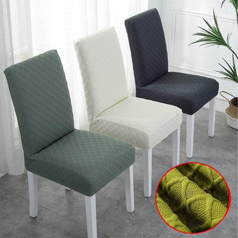 Super suave Jacquard funda de tela para silla elástica cubierta para silla de LICRA para comedor/cocina elástico cubierta de la silla con