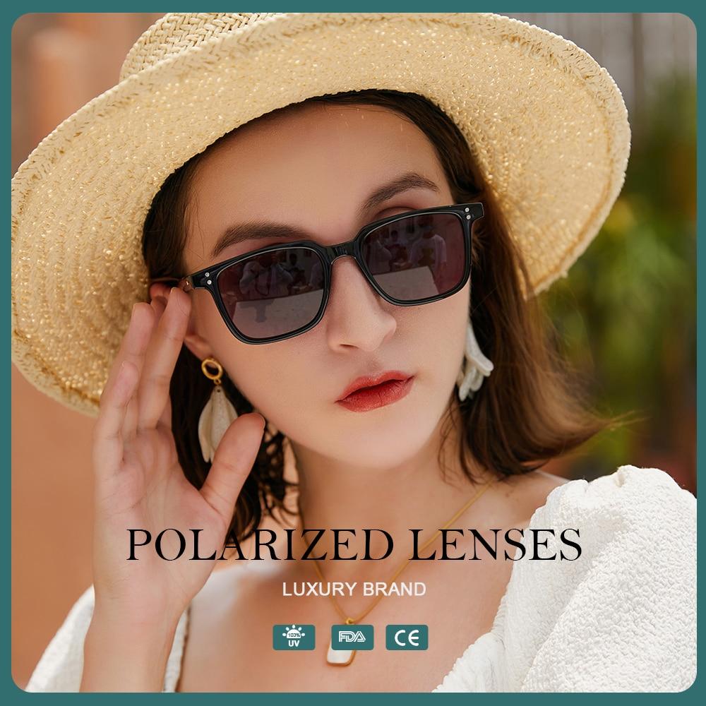 Polarized Sunglasses Women Fashion Square Sun Glasses Classic Vintage Luxury Brand Designer Anti-gla