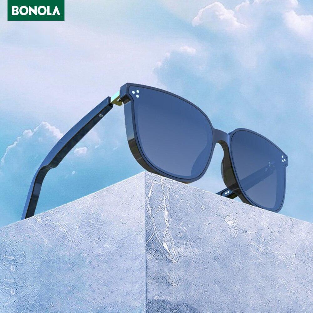BONOLA-نظارات شمسية لاسلكية تعمل بالبلوتوث ، وميكروفون للهواتف الذكية ، ورياضة خارجية ، وستيريو ، والموسيقى ، وسماعات رأس لاسلكية