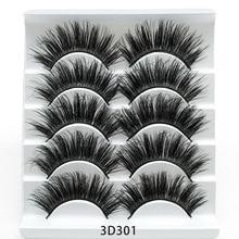 5 Pairs False Eyelashes Mink Lashes Hot Sales Thick Cross Natrual Long Beauty Eyelashes Make Up Tool