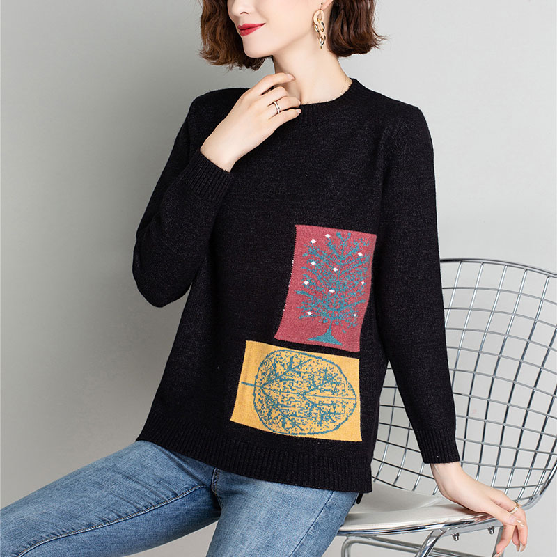 Autumn winter woman sweater female 2020 Christmas jersey green oversized jumper Ladies clothing fashion t-shirt long sleeve enlarge