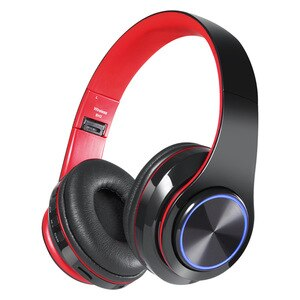 Wireless Headphones Bluetooth Headphone 4 Colors Glowing LED Headset With MIC Support TF Card For Phone PC MP3 Player
