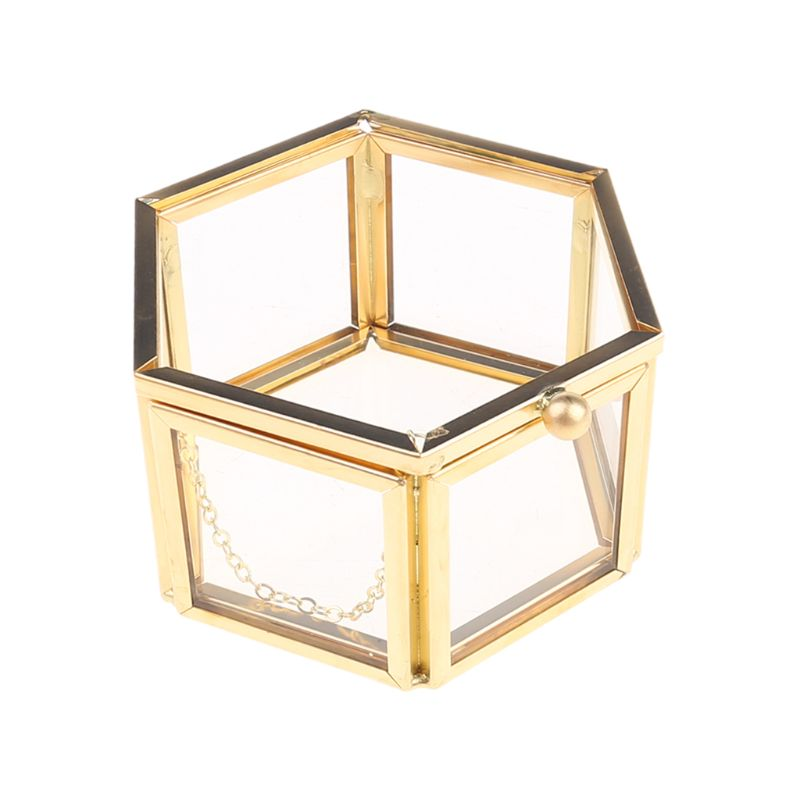 AliExpress - Wedding Ring Box Storage Box Geometrical Clear Glass Jewelry Box Jewelry Organize Holder Tabletop Succulent Plants Container Hom