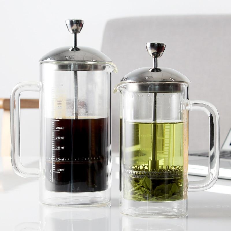 Yami Bodum-موزع زجاجي مزدوج الجدار للقهوة ، مكبس فرنسي ، مقاوم للحرارة ، للقهوة ، الشاي ، باريستا ، رغوة الحليب ، صانع الإسبرسو