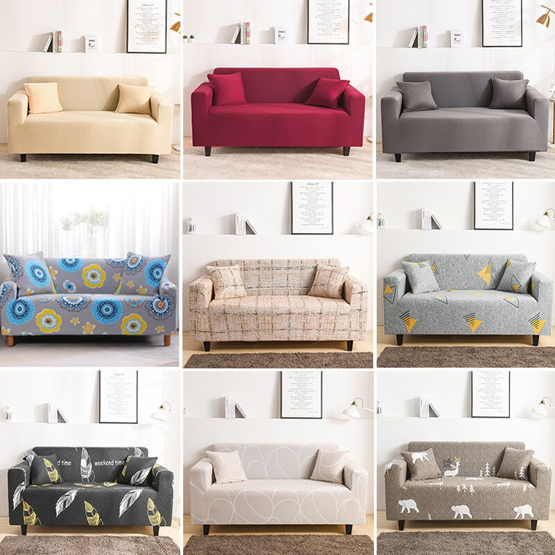 universal sectional slipcover 1 2 3 4 seater spandex sofa cover for living room stretchable sofa cover l shape home decoration Stretch Slipcover Sectional Elastic Stretch Sofa Cover for Living Room Couch Cover L Shape Corner Armchair Cover 1/2/3/4 Seater