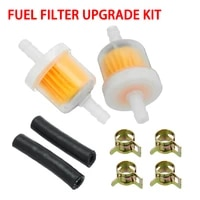 2pcs set motorcycle fuel inline filter hose upgrade kit with clips eberspacher webasto parking heaters motorcycle spare parts