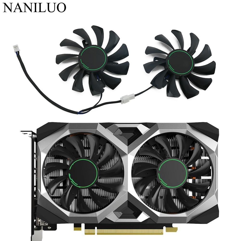 Вентилятор охлаждения 75 мм HA8010H12F-Z для видеокарты MSI GeForce GTX 1650 SUPER VENTUS XS