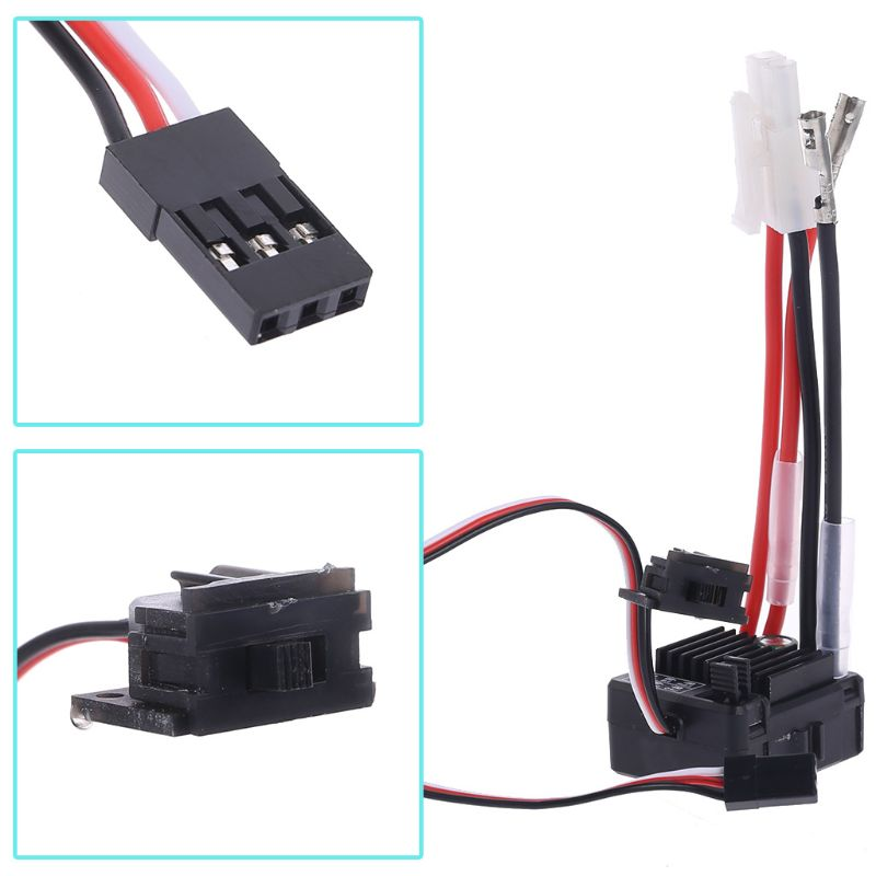 1060 Brushed ESC 60A 2-3S LiPo Waterproof Electric Speed Controller for RC 1/10th Touring Cars Buggies Trucks Rock Crawlers enlarge