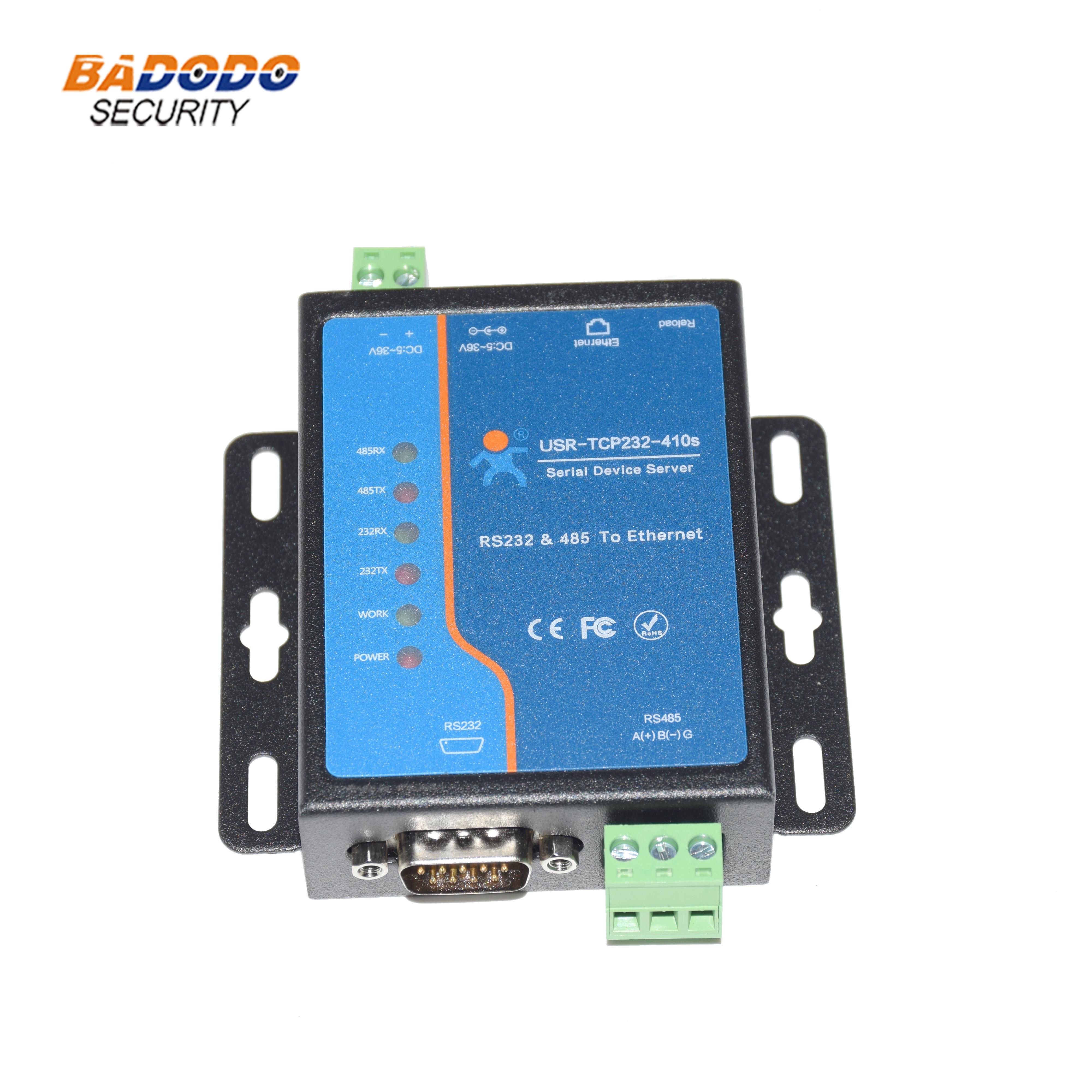 USR-TCP232-410S puerto Serial RS232 RS485 a Ethernet, dispositivo convertidor, servidor Modbus RTU a Modbus TCP, control de flujo