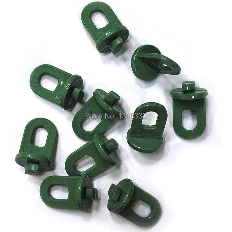 12 unids/set colgador de plástico de invernadero con Clip para colgar ganchos para plantas, utensilios de invernadero, herramienta colgante para invernadero