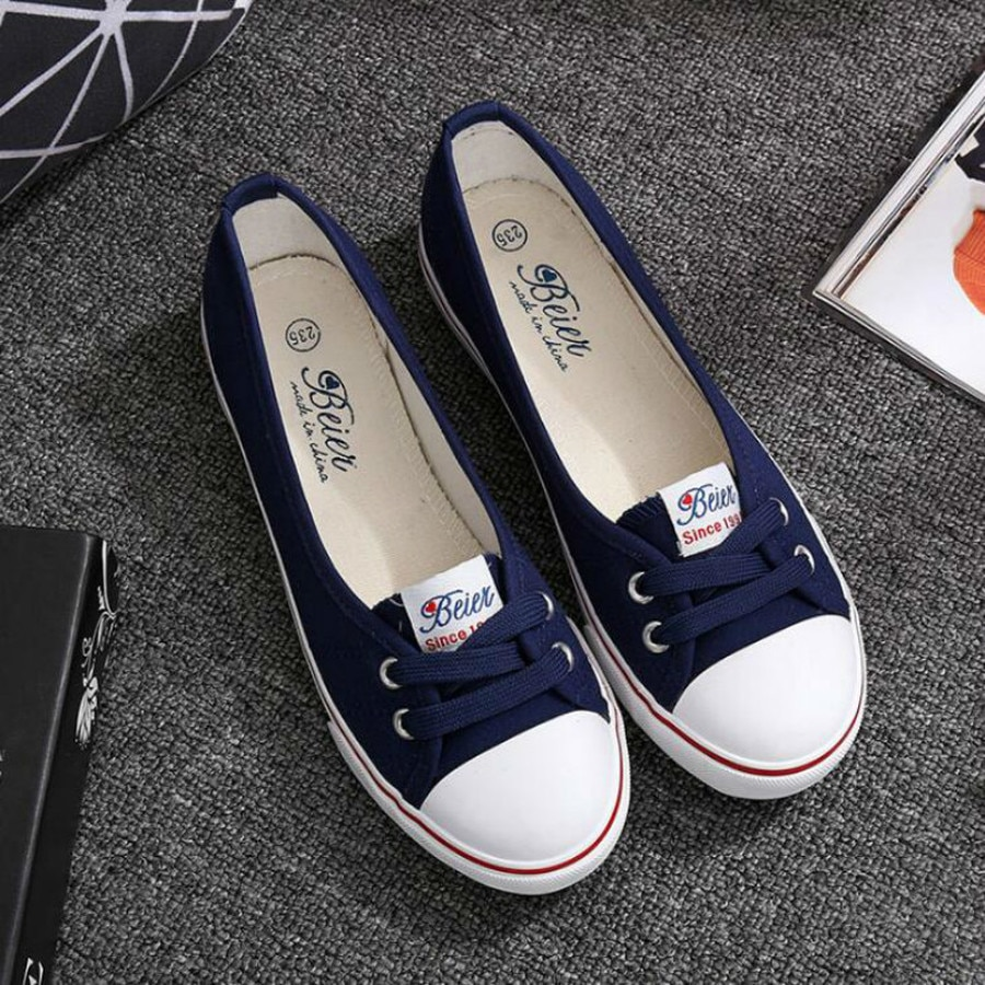 Women Shoes Ballet Flats Loafers Casual Breathable Women Flats Slip On Fashion 2021 Canvas Flats Shoes Women Low Shallow Mouth