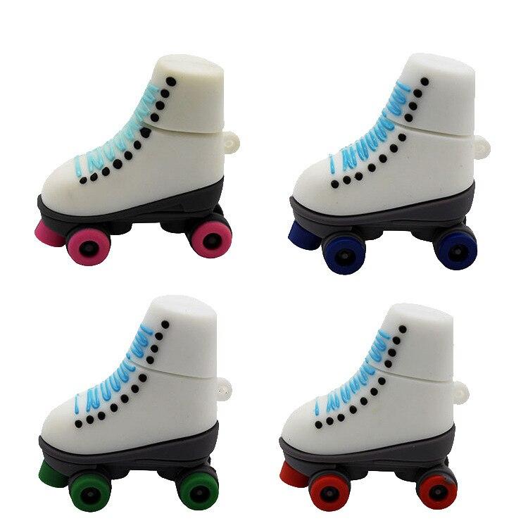 Unidad Flash usb con estilo de patines de hielo de dibujos animados, 4gb, 8gb, 16gb, 32gb, 64gb y 128gb, unidad flash usb, regalo personalizado