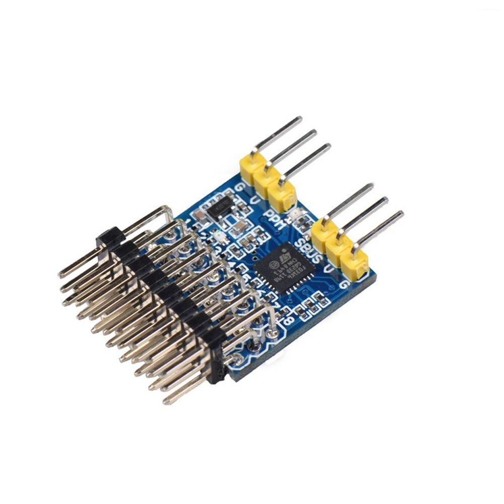 JHEMCU SPP 8CH convertidor de señal módulo de apoyo SBUS PPM salida PWM para Flysky iA6B Frsky X8R receptor RC FPV Drone