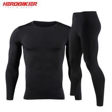 HEROBIKER Men Fleece Lined Thermal Underwear Set Motorcycle Skiing Base Layer Winter Warm Long Johns
