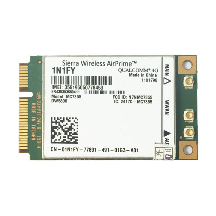 Wireless AirPrime MC7355 PCIe LTE / HSPA + GPS 100Mbps Karte 4G Modul für 1N1FY DW5808 Sierra Dell 1900/2 100/850/700 (B17)/700