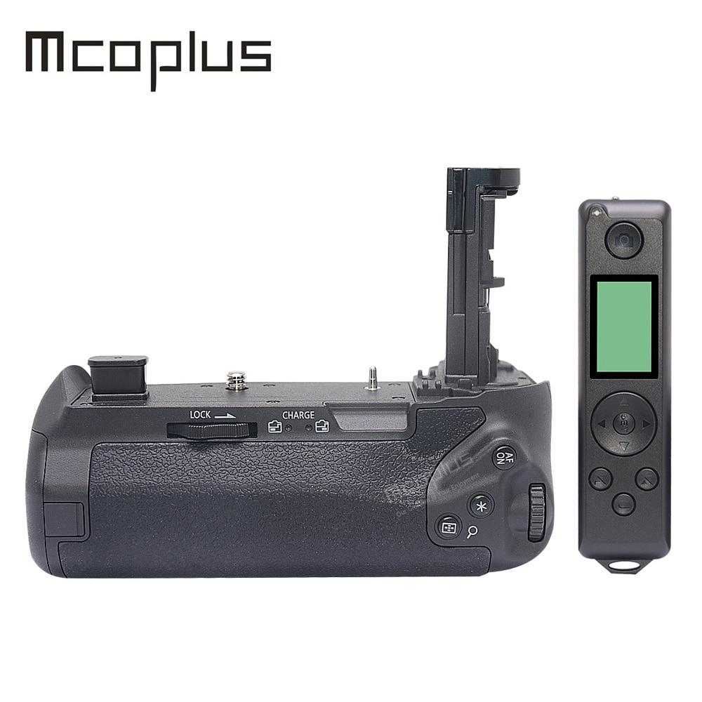 Mcoplus BG-E22 البطارية العمودي قبضة اليد حامل لكانون EOS R EOSR DSLR كاميرا مع المدمج في 2.4G التحكم عن بعد