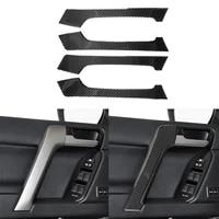 real carbon fiber interior door handle trim for toyota land cruiser prado fj150 150 2010 2018year
