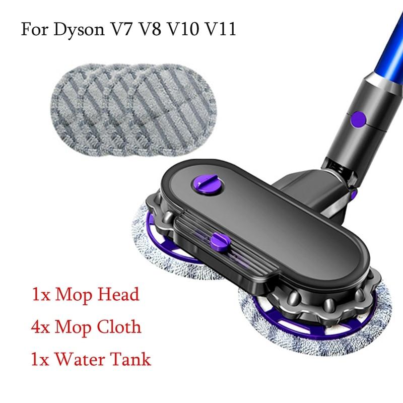 رأس ممسحة كهربائية دايسون V7 V8 V10 V11 ، قطع غيار مكنسة كهربائية ، رأس ممسحة رطب وجاف مع خزان مياه