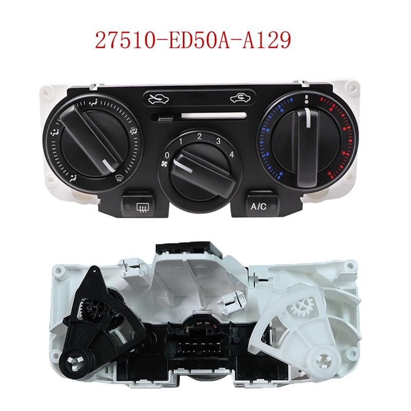Para tiida sylphy livina nv200 geniss temperatura do calefator de ar automático a/c interruptor de controle de clima 27510-ed50a-a129 27510 ed50a a129