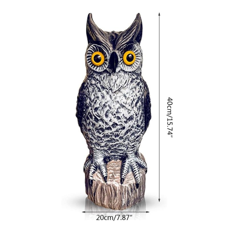 Simulation Owl Statue Garden Ornament Art Resin Craft Landscaping Yard Sculptures Decoration for Home Garden Patio Porch