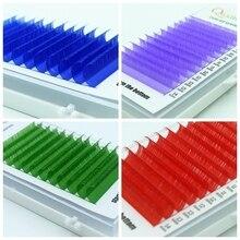 QUXINHAO longueur mixte nouveau C/D 0.07/0.10 Faux cils bleu + vert + violet + rose cils colorés Faux cils extensions
